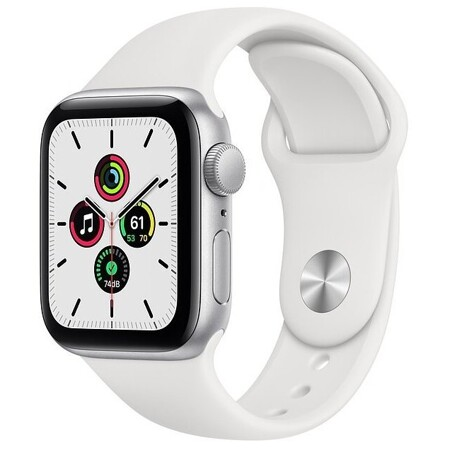 Apple Watch SE GPS 40mm Aluminum Case with Sport Band: характеристики и цены
