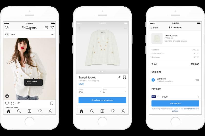 86ef2664 Теперь под товарами, доступными для покупки прямо внутри приложения, будет  размещена большая синяя кнопка «Оформить заказ в Instagram» («Checkout on  ...