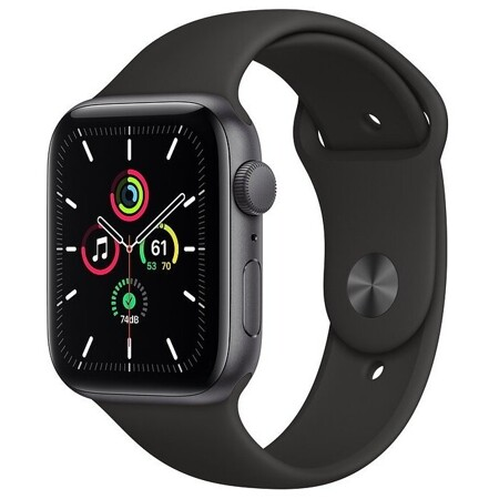Apple Watch SE GPS 44mm Aluminum Case with Sport Band: характеристики и цены