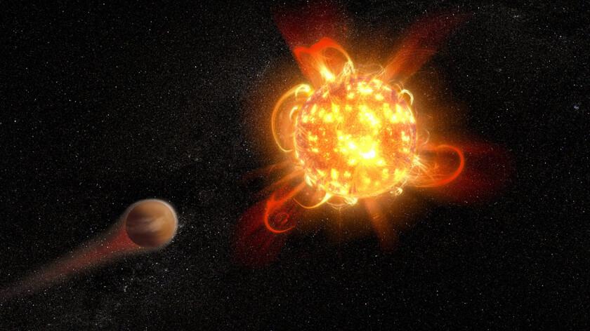 Сверхмощная вспышка опустошит соседние планеты
