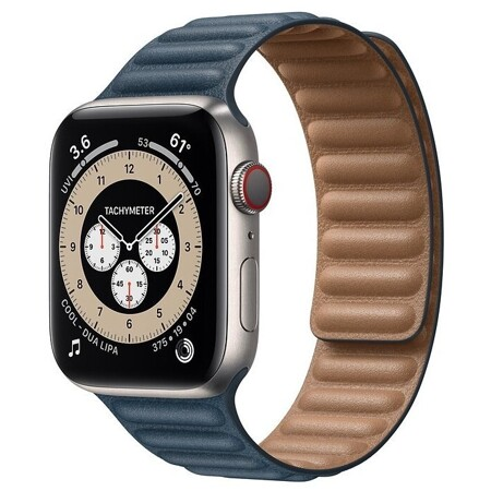 Apple Watch Edition Series 6 GPS + Cellular 44мм Titanium Case with Leather Link: характеристики и цены