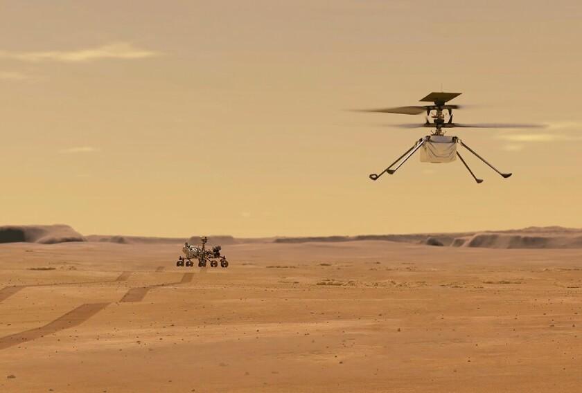 На Марсе впервые запустили вертолет.