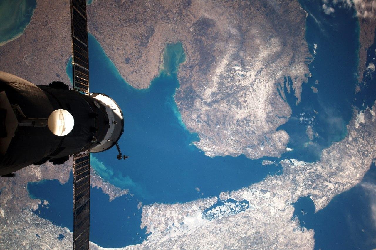 Верхнее озеро, озёра Гурон, Мичиган, Эри и Онтарио. Фото космонавта Анатолия Иванишина