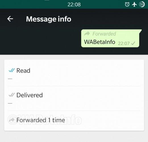 WhatsApp предупредит о пересылке ваших сообщений
