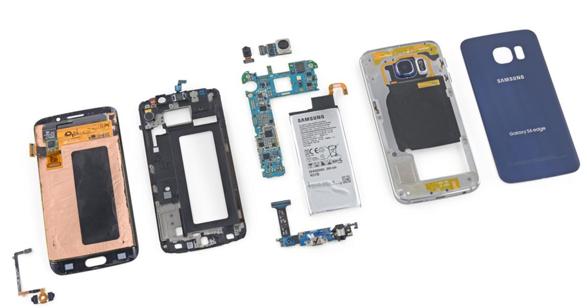 Что скрывается под крышкой Samsung Galaxy S6 edge