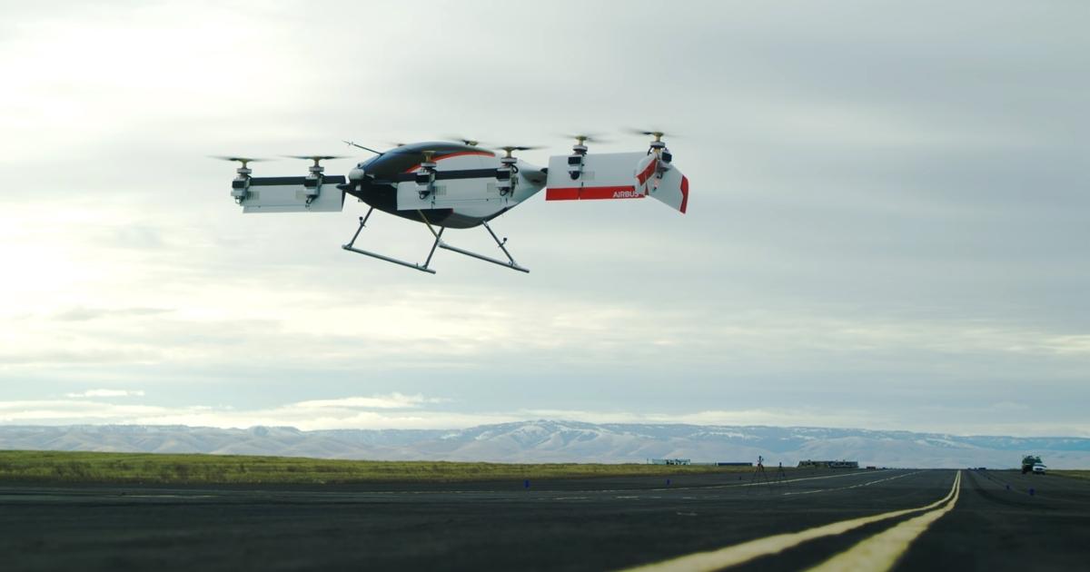 Airbus показал первые испытания воздушного такси