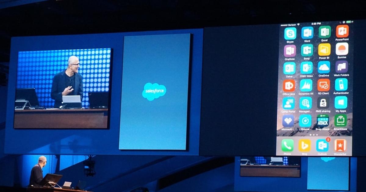 Глава Microsoft продемонстрировал возможности фирменного ПО на iPhone