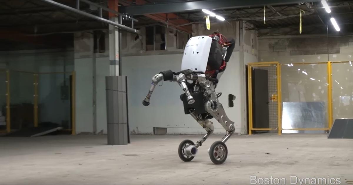 Видео: робот Handle надвух колесах выполняет невероятные трюки