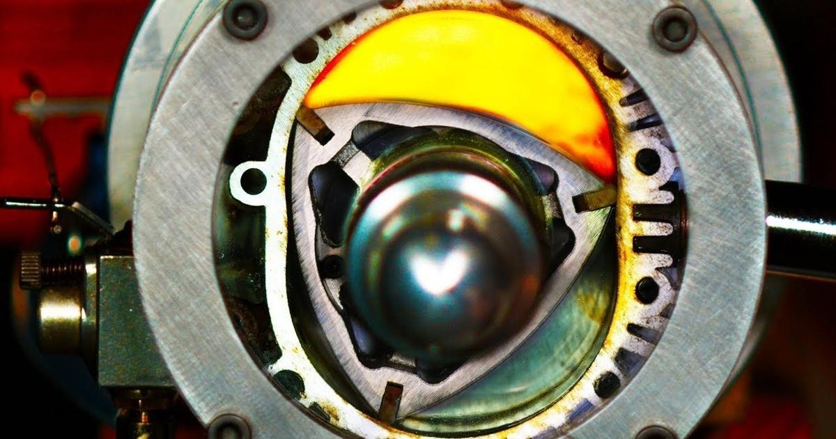 Как работает роторно-поршневой двигатель: зрелищный ролик вslow-mo