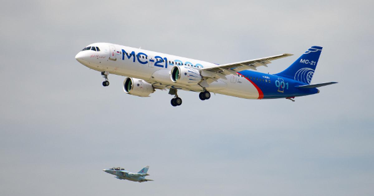 Российский «Магистральный самолет XXI века» (МС-21) поднялся внебо