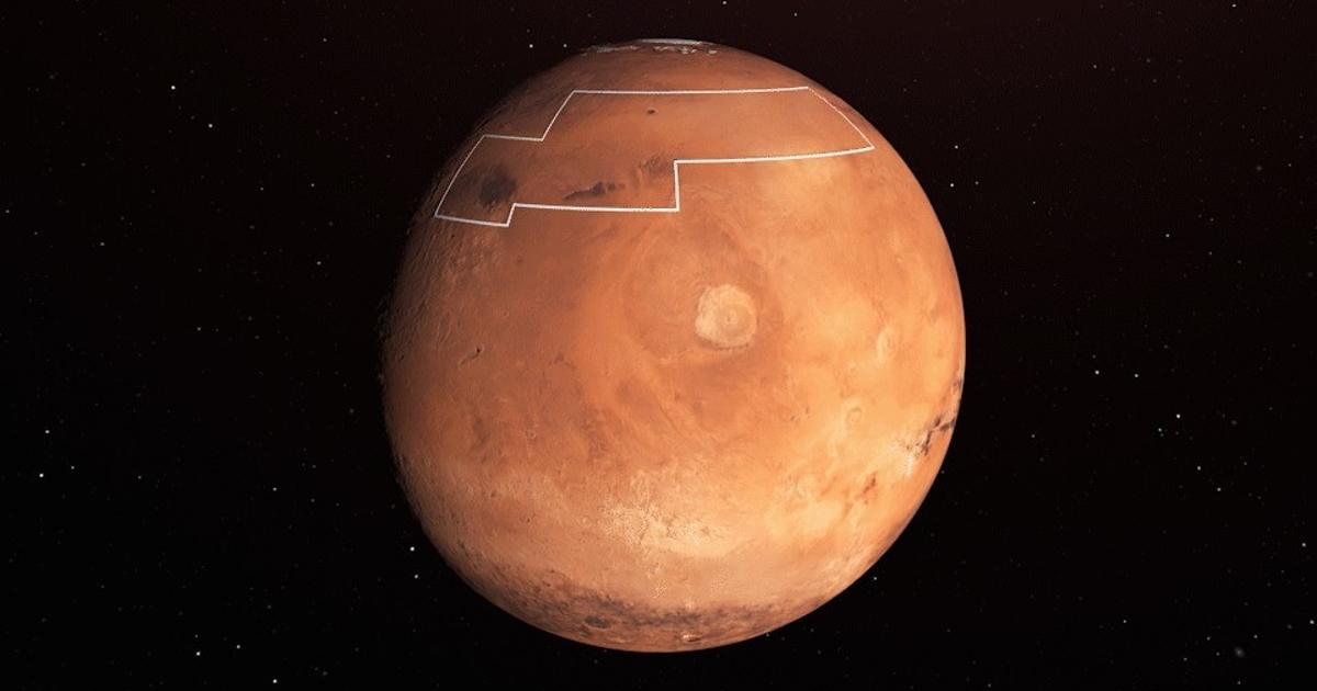 NASA представило карту дляпутешественников наМарс