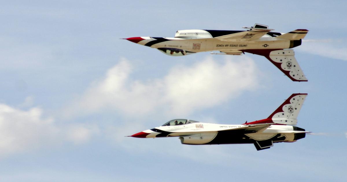 ВВС США показали захватывающее видео из кабины F-16