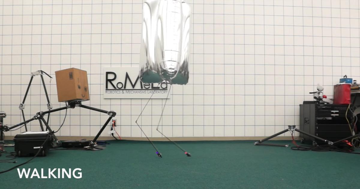 Создан самый устойчивый робот из воздушного шара