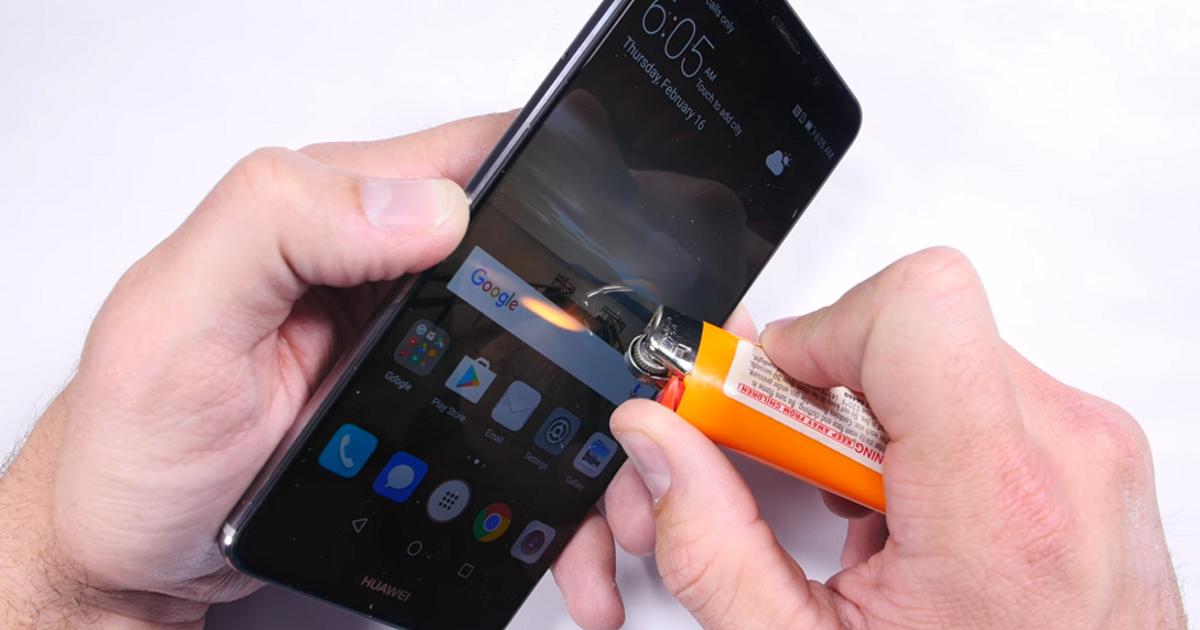 Флагман Huawei Mate 9 прошел испытание огнем