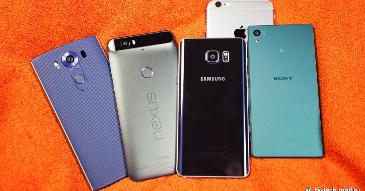 5 новейших смартфонов против фотоаппарата — кто кого?