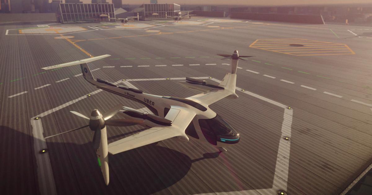 Uber показала работу своего беспилотного летающего такси