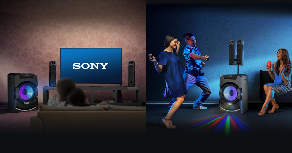 Аудиосистемы Sony: мощный звук для вечеринки