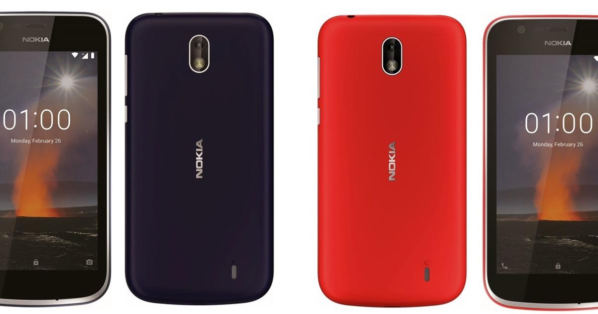 Появились изображения Nokia 1 иNokia 7+