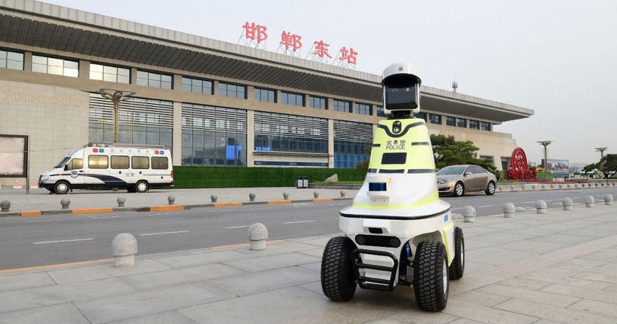 ВКитае наслужбу заступили роботы-гаишники