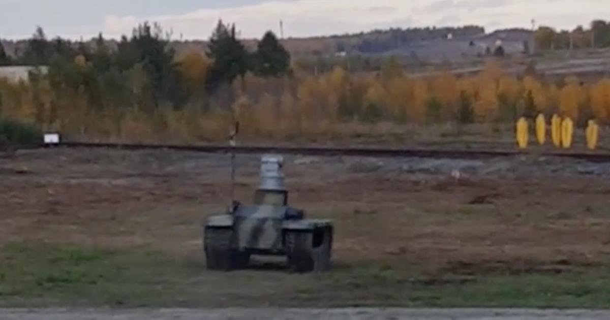 Видео: испытания российских боевых роботов
