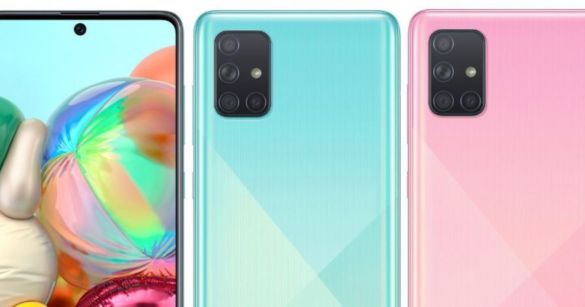 Samsung Galaxy A71: представлен новый смартфон скамерой на64 Мп
