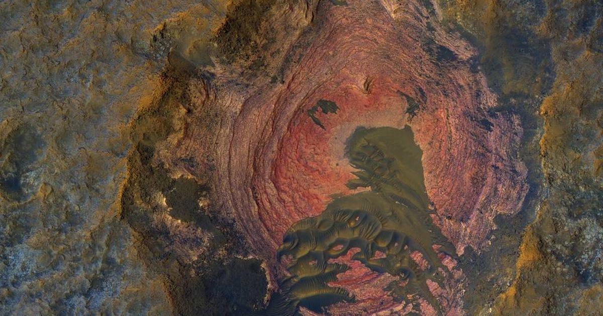 NASA показало необычное фото Марса