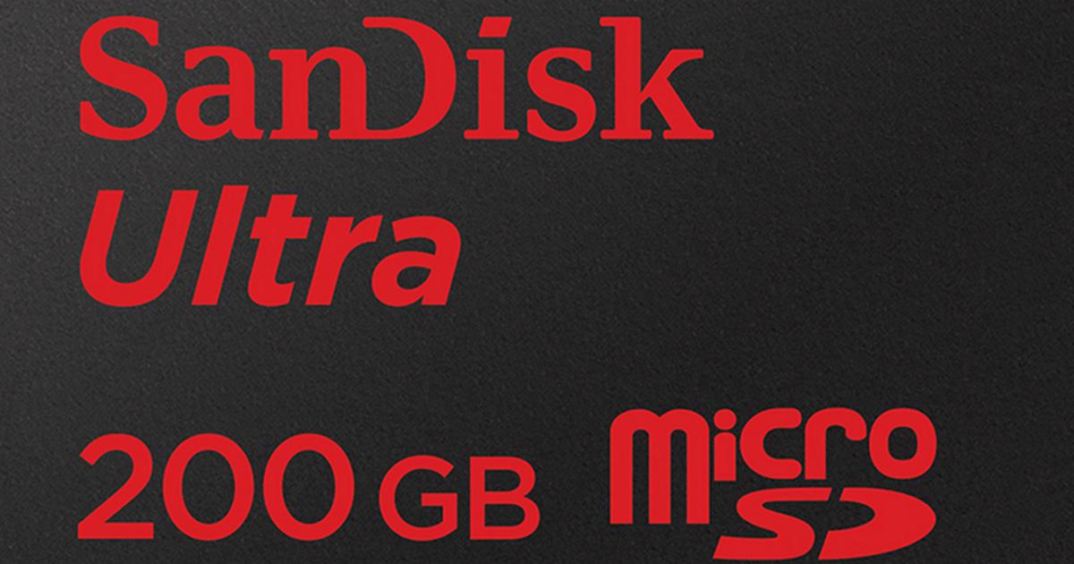 MicroSD-карта на 200 ГБ - уже реальность