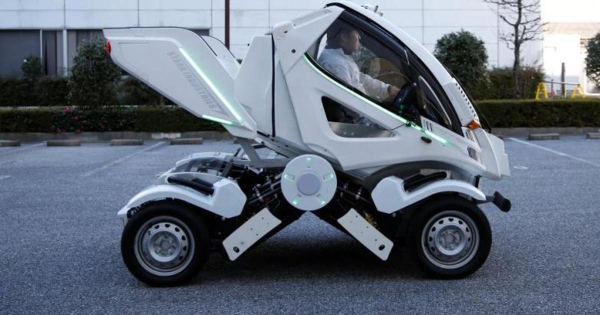 Представлена складная машина-робот дляудобной парковки