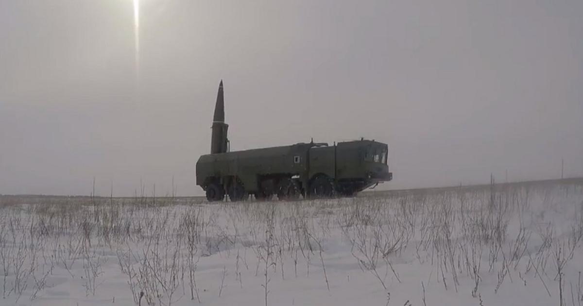 Боевой запуск «Искандер-М» показали навидео